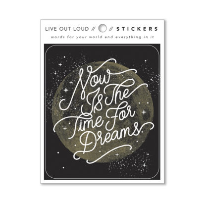 Now is the Time for dreams Sticker