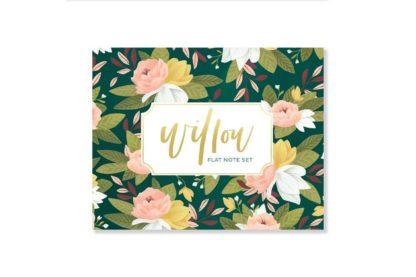 Willow Flat Notecard Set