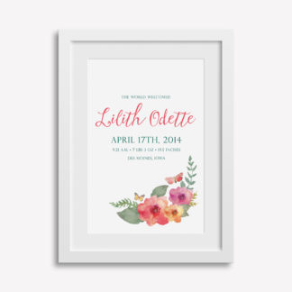 "12x18"" Customizable Baby Print"