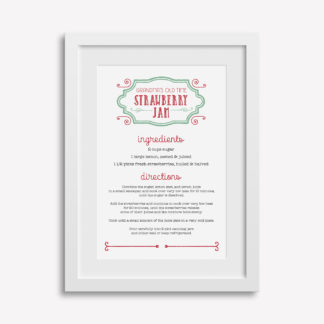 "12x18"" Customizable Recipe Print"