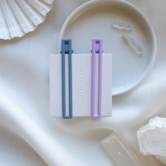 Leia in Lilac & Blue - Set of 2 Nat + Noor Hairclips